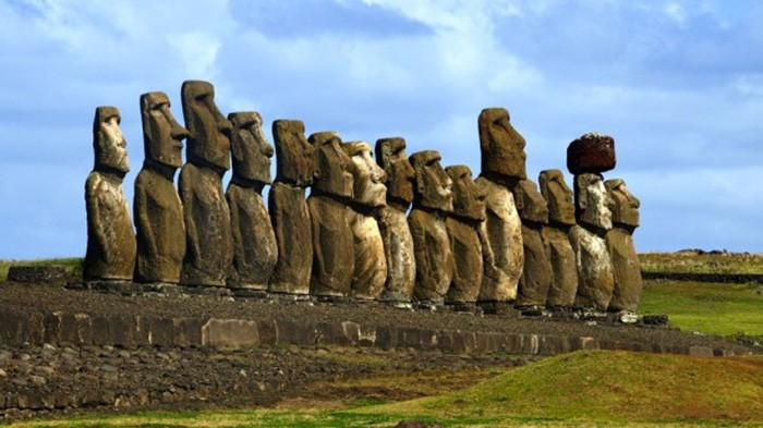 Giant Heads on Easter Island